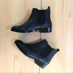 Cole Haan Black Leather Chelsea Boot Ankle Boot 7